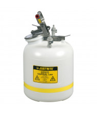 "Justrite PP12755 Polyethylene 5 Gallon Disposal Safety Can, 3/8"" Poly Fitting"