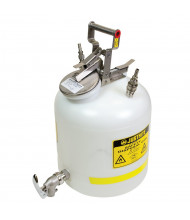 "Justrite 12771 Polyethylene 5 Gallon Disposal Safety Can with Faucet, 3/8"" Fitting"