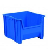 Akro-Mils Stak-N-Store Plastic Storage Bins (Shown in Blue)