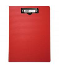 "Baumgartens 1/2"" Capacity 8-1/2"" x 11"" Low-Profile Portfolio Clipboard, Red"