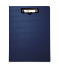 "Baumgartens 1/2"" Capacity 8-1/2"" x 11"" Low-Profile Portfolio Clipboard, Blue"