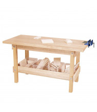 Wood Designs Maple Workbench Play Set with Clear Trays and Wood Pieces