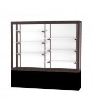 """Waddell Challenger 13406 Series Floor Display Case 72""""W x 66""""H x 16""""D (Shown in White Laminate/Dark Bronze)"""
