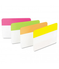 """Post-It 2"""" x 1-1/2"""" Flat Hanging File Tabs, Assorted Bright, 24/Pack"""