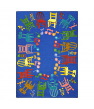Joy Carpets Musical Chairs Rectangle Classroom Rug