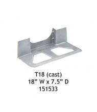 "Wesco T18 Aluminum Cast Noseplate 18"" W x 7.5"" D"