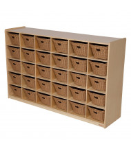 Wood Designs 30 Cubbie Tray Classroom Storage with Baskets