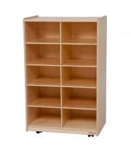 Wood Designs Vertical Cubbie Classroom Storage Unit