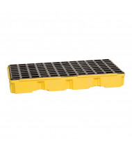 """Eagle 2-Drum 51.5"""" W x 26.25"""" L Modular Platform Unit, 30 Gallons (in yellow with drain)"""