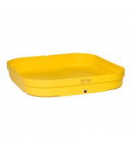 """Eagle 1638 4-Drum 51.5"""" W x 51.5"""" L Budget Basin, 66 Gallons, Yellow"""