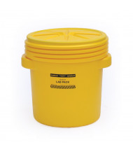 Eagle Screw Lid Polyethylene Lab Pack Drum, 20 Gal, Yellow