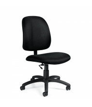 Global Goal 2239-6 Fabric Low-Back Office Task Chair, Armless. Shown in Black