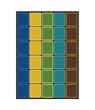 Joy Carpets Blocks Abound Rectangle Classroom Rug, Earthtone