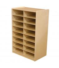 Wood Designs Childrens Classroom 16-Cubby Storage Unit