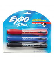 Expo Click Dry Erase Marker, Chisel Tip, Assorted, 3-Pack