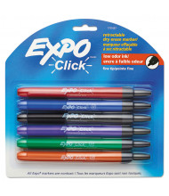 Expo Click Dry Erase Marker, Fine Tip, Assorted, 6-Pack