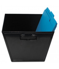 "Advantus 11-1/4"" D Legal Steel File and Storage Bin, Black"