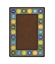 Joy Carpets Alphabet Spots Classroom Rug, Earthtone