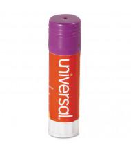 Universal .74 oz Permanent Glue Sticks, Purple, 12/Pack