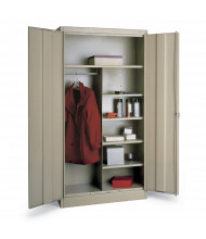 Tennsco Deluxe Combination Wardrobe and Storage Cabinets (Shown in Champagne/Putty)