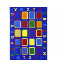 Joy Carpets Alphabet Tiles Rectangle Classroom Rug