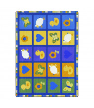 Joy Carpets Spring Things Rectangle Classroom Rug, Multicolored