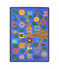 Joy Carpets Alphabet Leaves Rectangle Classroom Rug, Soft