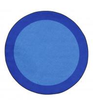 Joy Carpets All Around Classroom Rug, Blue (Shown in Round)