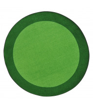 Joy Carpets All Around Classroom Rug, Green (Shown in Round)