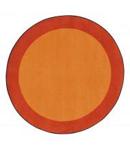 Joy Carpets All Around Classroom Rug, Orange (Shown in Round)