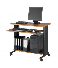 """Safco Muv 1921 35.5"""" W Steel Computer Desk (Shown in Cherry, Example of Use)"""