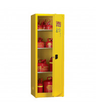 Eagle 1923 Manual One Door Flammable Safety Cabinet, 24 Gallons, Yellow