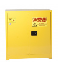 Eagle YPI-30 Sliding Self Close Two Door Combustibles Safety Cabinet, 40 Gallons, Yellow