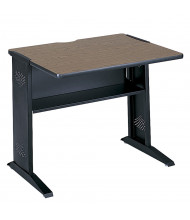 "Safco 1930 35.5"" W Reversible Top Steel Computer Desk (Shown in Reversible Mahogany)"