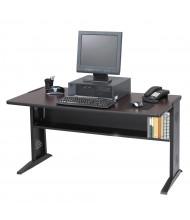 "Safco 1931 47.5"" W Reversible Top Steel Computer Desk (Shown in Reversible Mahogany)"