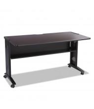 "Safco 1933 53.5"" W Reversible Top Steel Computer Desk (Shown in Reversible Mahogany)"