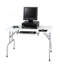 "Safco 1935GR 47.5"" W x 29.75"" D Folding Computer Table, Light Gray"