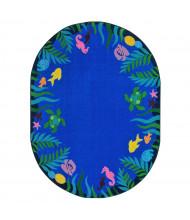 Joy Carpets Soothing Seas Oval Classroom Rug