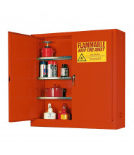 Eagle 1975-RED Self Close Two Door Combustibles Safety Cabinet, 24 Gallons, Red