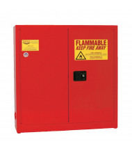 Eagle 1976-RED Manual Two Door Combustibles Safety Cabinet, 24 Gallons, Red