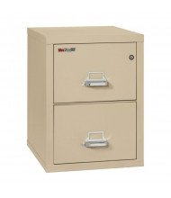 """FireKing 2-Drawer 25"""" Deep 1-Hour Rated Fireproof File Cabinet, Letter - Shown in Parchment"""
