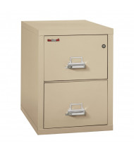 """FireKing 2-Drawer 31"""" Deep 1-Hour Rated Fireproof File Cabinet, Letter - Shown in Parchment"""