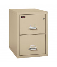 """FireKing 2-Drawer 31"""" Deep 2-Hour Rated Fireproof File Cabinet, Legal - Shown in Parchment"""