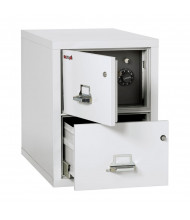 """FireKing Safe-In-A-File 2-Drawer 31"""" Deep 1-Hour Rated Fireproof File Cabinet, Legal (Shown in Arctic White)"""