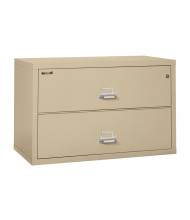 """FireKing 2-Drawer 44"""" Wide 1-Hour Rated Lateral Fireproof File Cabinet - Shown in Parchment"""