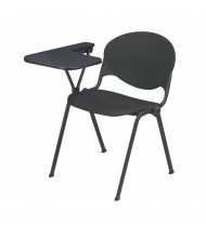 "KFI Seating 2000-P 14"" x 20"" Tablet Arm Stacking Chair, Right-Hand (Charcoal)"