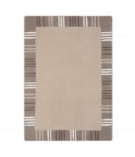 Joy Carpets Seeing Stripes Rectangle Classroom Rug, Neutral