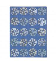 Joy Carpets Simply Swirls Rectangle Classroom Rug, Pastel