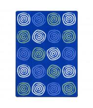 Joy Carpets Simply Swirls Rectangle Classroom Rug, Seaglass