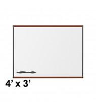 Best-Rite 202OC-03 Origin Board Mahogany Trim 4 ft. x 3 ft. Porcelain Magnetic Whiteboard